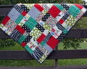 baby quilt in modern car fabric // traffic jam // gender neutral baby gift // READY TO SHIP