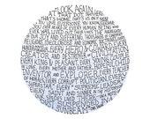 Carl Sagan pale blue dot illustration // art print