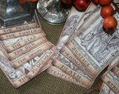 Tarot card banner / Tarot Cards, set of 22 all different, Halloween decor.
