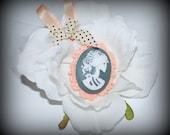 Gothic Wedding Hair Flower
