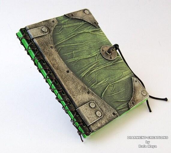 Steampunk Notebook Green