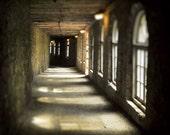 Dark hallway castle interior windows autumn fall dark gothic men black castle stone tunnel - Passageway 8 x 10