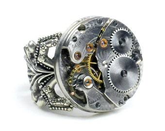 Petite Nanon - 1917 Waltham Watch Steampunk Ring