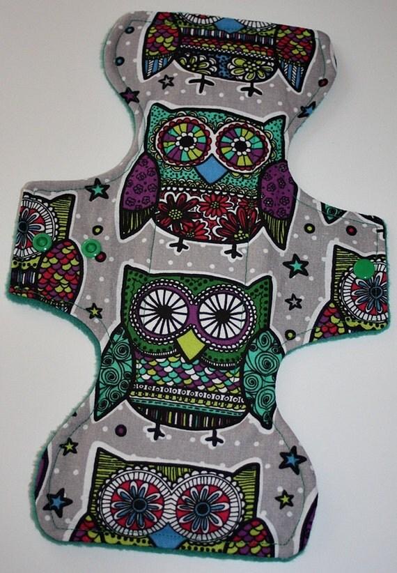 Jumbo Owls Reusable Cloth Goddess Pad
