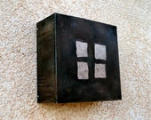 Four Square Steel and Mica Light Sconce