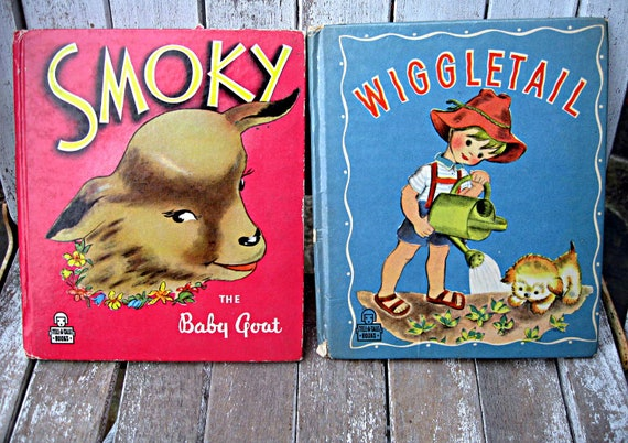 Vintage children's books, 1940's Tell-a-Tale books, adorable illustrations