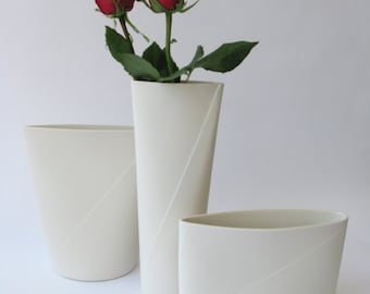Fifty Percent Off Seconds - Tall Envelope Vase