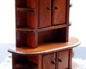 Vintage Miniature  Dining Room Hutch Cupboard. Dollhouse Furniture