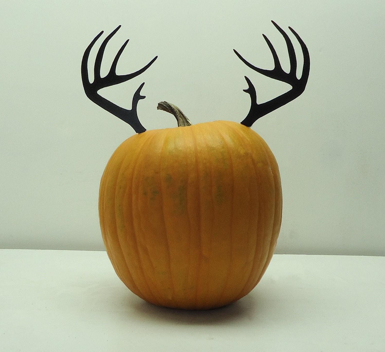 Pumpkin jackolantern deer antlers metal art free usa