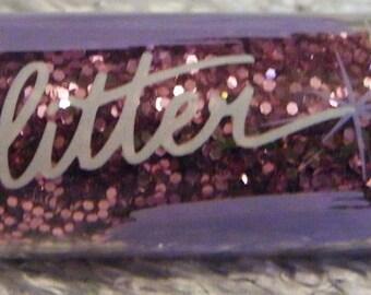 Glitter-Sprinkle in Mauve/Rose/Pink