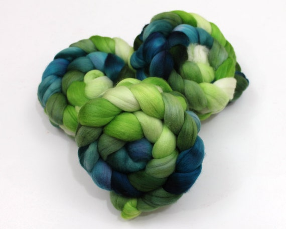 Polwarth Wool Roving - Handpainted Roving for Spinning or Felting