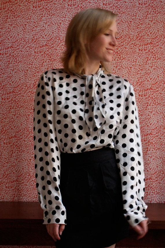 Shop for polka dot blouse online at Target. Free shipping on purchases over $35 and save 5% every day with your Target REDcard. skip to main content skip to footer. Women's Polka Dot Crepe Blouse - A New Day™ Navy.