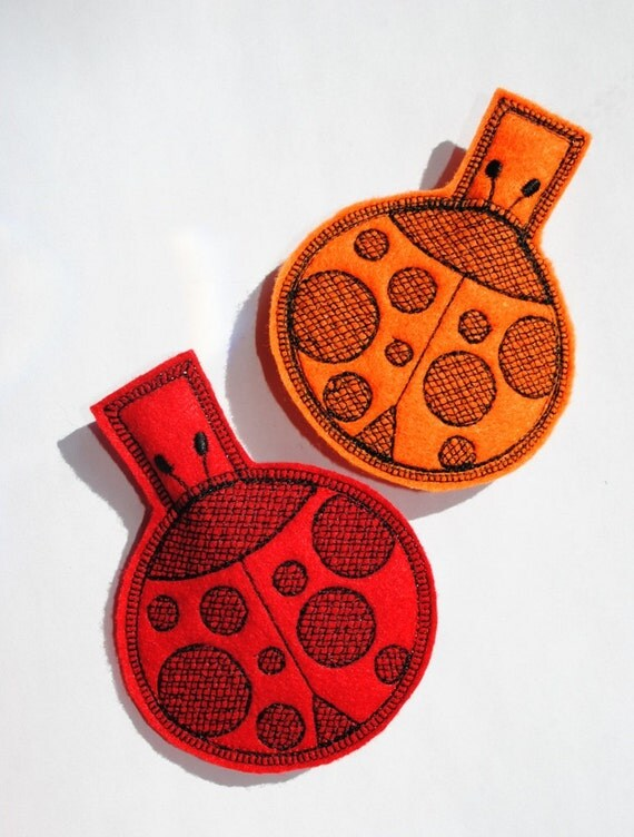 Ladybug Bag Clip Refrigerator Magnet Set of 2