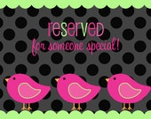 Reserved for Katie