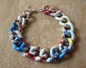SALE - Chunky Chain Bracelet - Colorful Comic Print Curb Chain - Marvel (Ready to Ship)