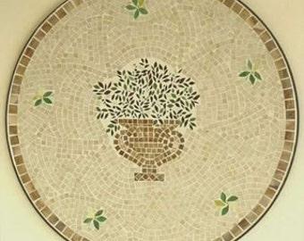 Classic Roman Urn Mosaic