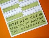 Boston Baby 2013 Letterpress Card