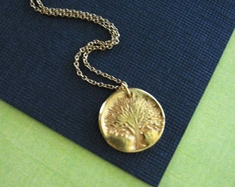 Tree of Life Necklace, Gold Tree Necklace, Family Tree, Tree Jewelry, Gold Tree, Gold Necklace