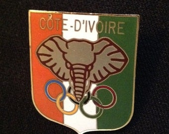 Ivory Coast NOC Pin - Olympic Pins For Sale