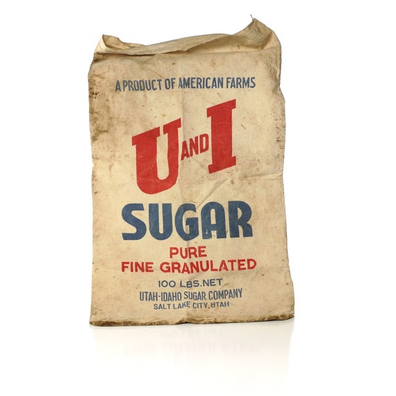 Vintage Feed Sack, U & I Baker's Sugar Bag