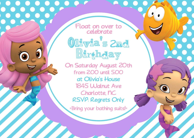 Bubble Guppy Invitations as adorable invitations sample