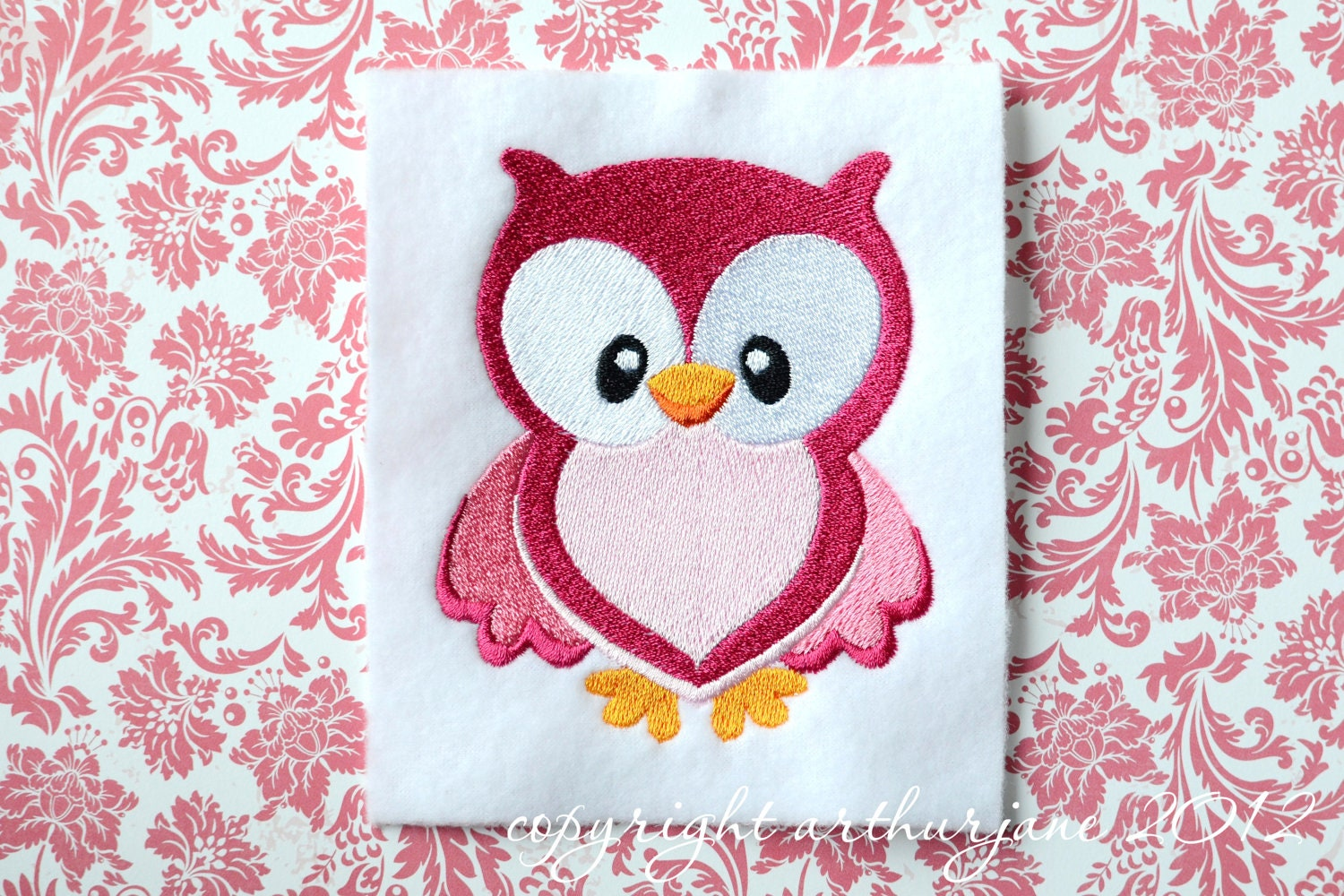 Owl Embroidery Design INSTANT DIGITAL DOWNLOAD Woodland