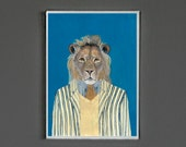 Art Print - Lion - Signed by Artist -- 8x10 // 16x20 // 22x28