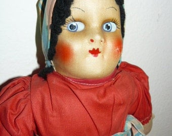 Vintage Georgene Cloth Doll International  Series 1940s Slovak Polish Russian