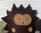 Small Wool Hedgehog - Wool Felt Woodland Plush Toy