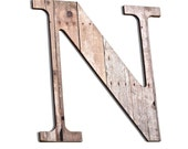 Wooden Letter N, Wood Grain, Crafting Paper, Initials, Country, Rustic, Chic Decor, Wall decorative Letters - compulsivecollection