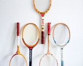 Vintage Tennis Rackets // One Still Available