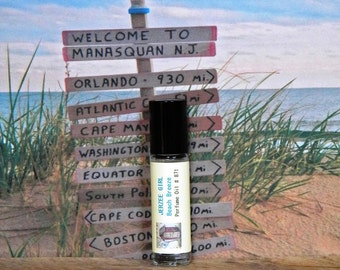 JERZEE GIRL Beach Perfume Oil - New Jersey Perfume Oil - Roll On Perfume Oil