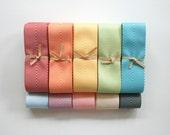 Chevron Twill Herringbone Ribbon - All Nine Colors - 1.5 Inch Width - Packaging and Gift Ribbon 45 Yards Total