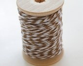 Baker's Twine - 20 Yards - Cappuccino - Brown - 4 Ply Twine on Wooden Spool