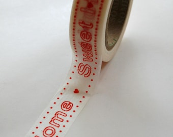 Washi Tape - 15mm - Home Sweet Home Red - Deco Paper Tape no. 387
