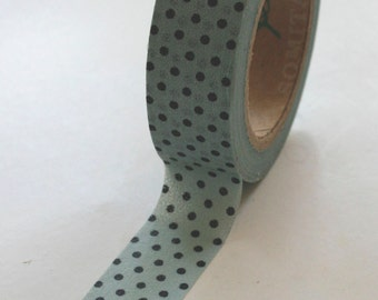 Washi Tape - 15mm - Deep Navy Dots on Blue - Deco Paper Tape No. 179