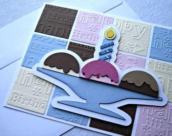 Ice Cream Embossed Birthday Card