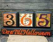 RESERVED for Debbie-Halloween Countdown Block Calendar - Year Long