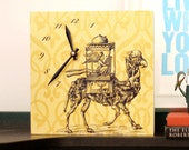 Yellow Animal Camel Clock - Unique Wall Clock - Modern Desk Clock - Wall Decor