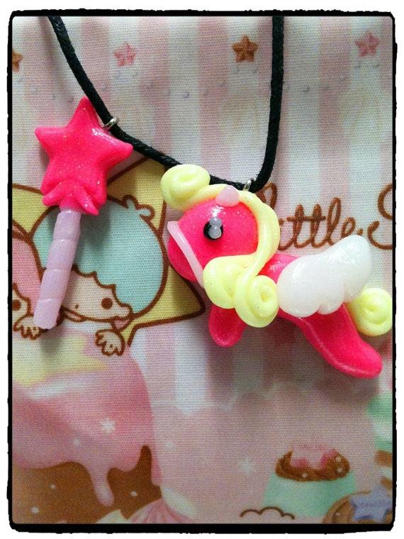 Pony Fairy Magic cute necklace pony fantasy fairy kei kawaii