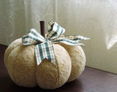 Golden Mustard Yellow Pumpkin Chenille Fall Decor