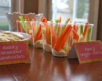Fancy Nancy inspired party - DIY PRINTABLE food labels