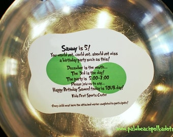 10 DR. SEUSS Green Eggs and Ham Baby Shower or Birthday Party Invitations