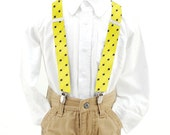 Suspenders - Yellow Black Silk Suspenders - Bacup - Matches our other items