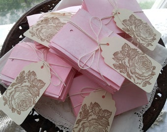 Blank Tags Assorted Vintage Style Cotton Candy Pink Tags DIY Rustic Wedding Set of 150