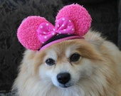 Mini mouse hat for dog of cat