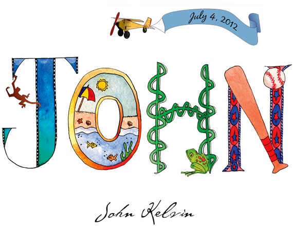 Name Art: Personalized Name Art Printable File Any Size
