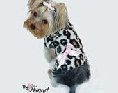Big Leopard Cuddle Dog TShirt Clothes Size XXXS through Large by Doogie Couture