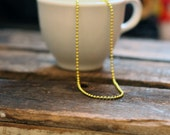 Gold Ball Chain Necklace - 24""