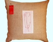 Square Linen Cushion Cover - Feather